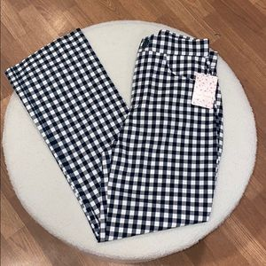 Free People Florence Crop Flare / Gingham